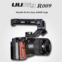 UURig R009 Wooden Handle Hand Grip for Sony A6400 DSLR Camera Handheld Rig Metal Cage Kit Case Accessory Portable
