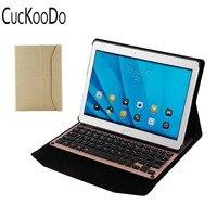 Cuckoodo Алюминий Bluetooth Съемная клавиатура Портфолио Смарт чехол с Авто Режим сна/Пробуждение для Huawei MediaPad M2 10.0 M2-A01