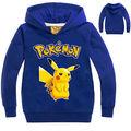 Kids Long Sleeve Fleece Hoodie Sweatshirt Sweater Pullover Hooded Coat Pokemon 2016 New Fashion