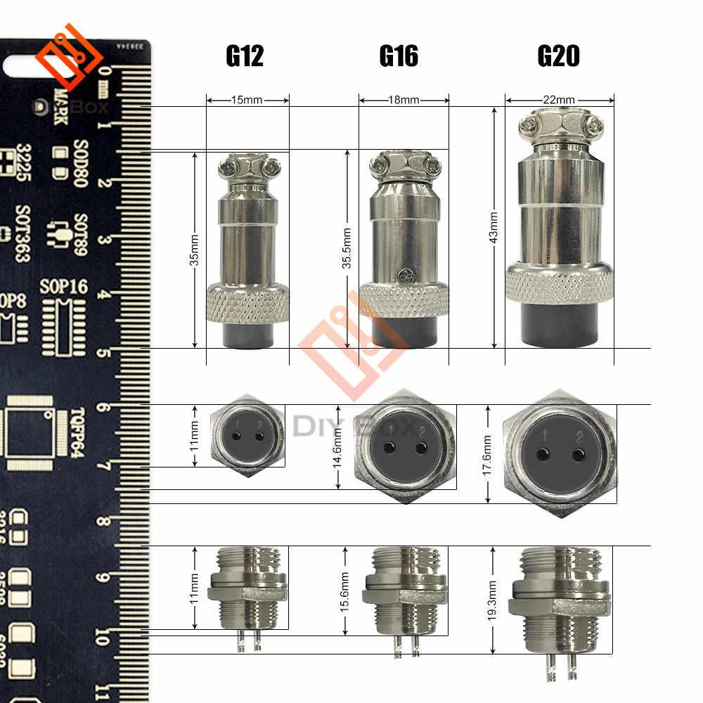 1 juego GX12 2/3/4/5/6/7 Pin macho + hembra conector de cable de aviación enchufe con tapa Pin conector de aviación conector Circular