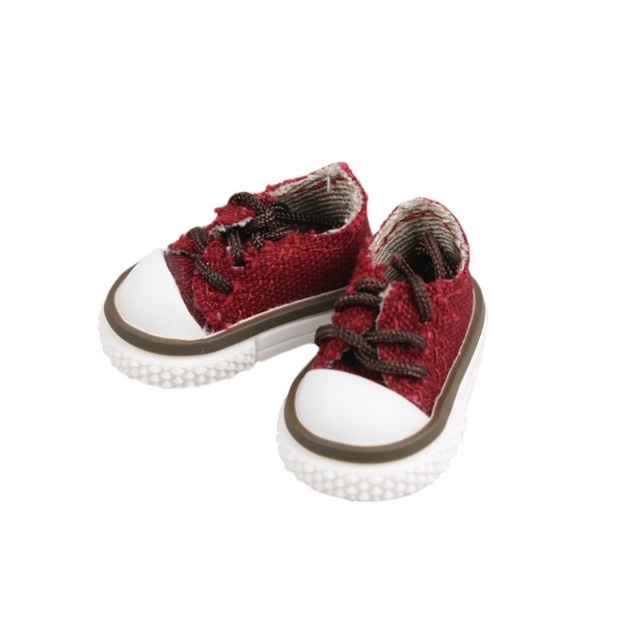 [wamami] Purplish Red Mid-Cut Canvas Sports Shoes/Sneakers For Lati SD Dollfie