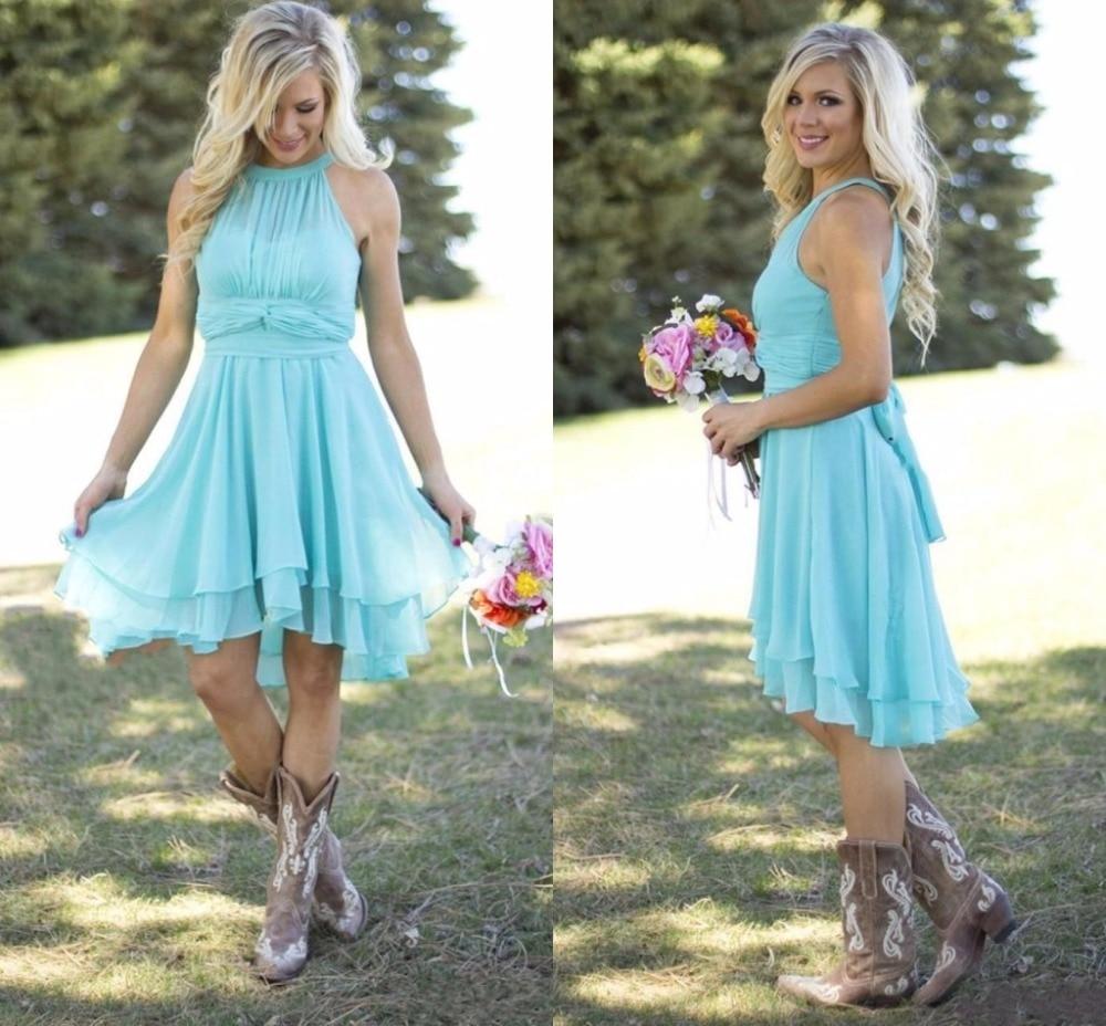Short Coral Beach Wedding Dresses | Dress images