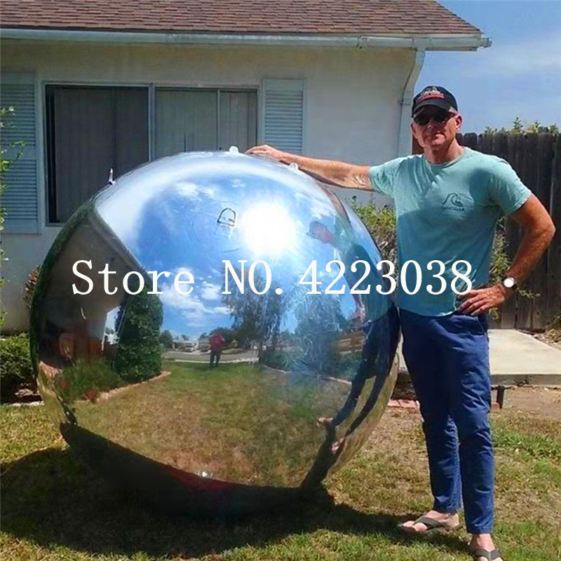 Free shipping door to door Dia 0.6m,0.8,1m  PVC Material inflatable crystal ball,inflatable mirror ball