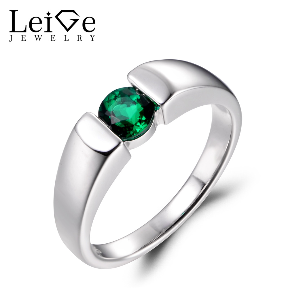 Jewels House Apatite Quartz Round Four Cut Gemstone Silver Plated Handmade Bezel Set Ring US-9.5