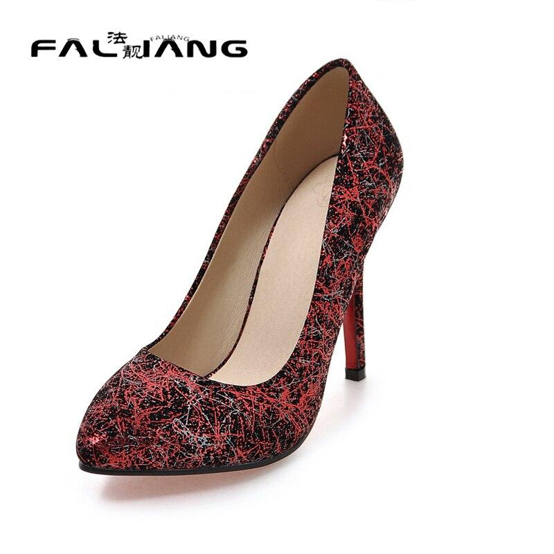 Women Sexy High Heels 2017 Elegant Round Toe Shallow Thin ...
