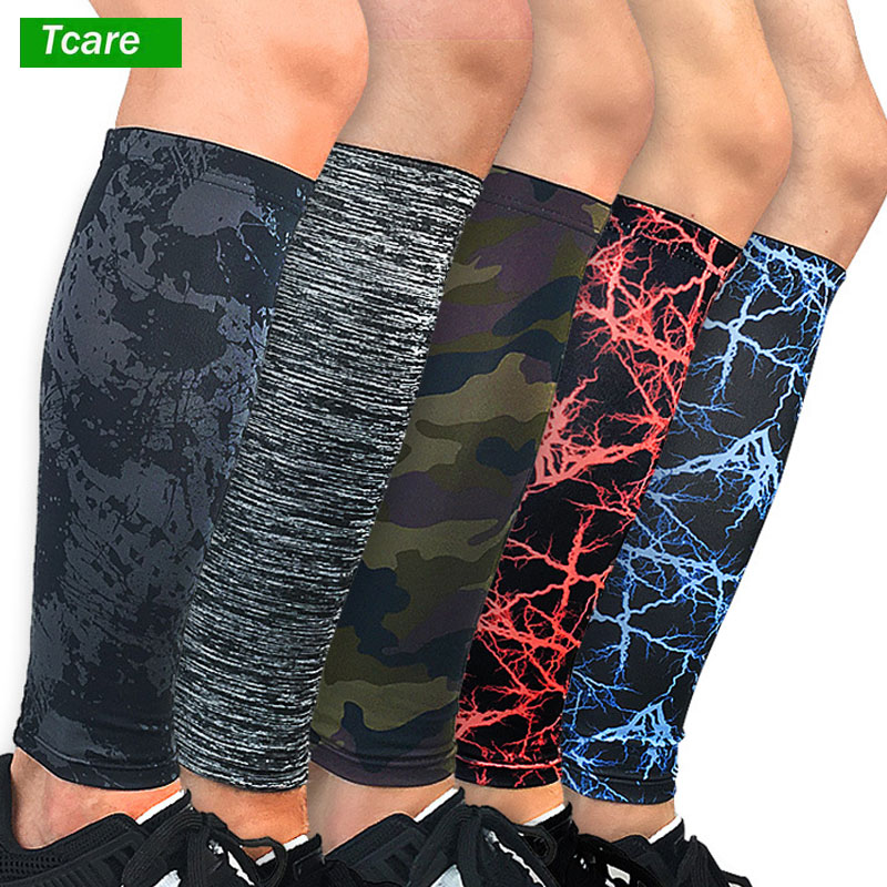 Tcare 1Pcs Compression Calf Sleeves Leg Compression Socks for Shin Splints & Calf Pain Relief, Perfect for Men Women Runners