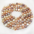 34 inches AAA 8-9mm High Luster Multicolor Nugget Pearl Loose Strand