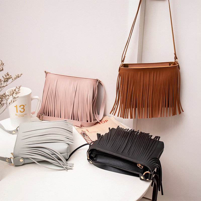 Fashion 2019 New Casual Girls Ladies Hot Sales Women's Bags Shoulder Purse New Product Messenger Tassel Mobile Phone Bag