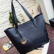 Fashion Women PU Leather Handbags Large Shoulder Bags Tote Bag Gray Black  Ladies Hand Bag School Student SS0037 c95f141c58b5b