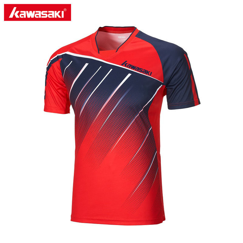 28a2ff9ef96 Kawasaki Breathable Badminton T-Shirt Men Short-sleeved Quick Dry Shirts  Training T-