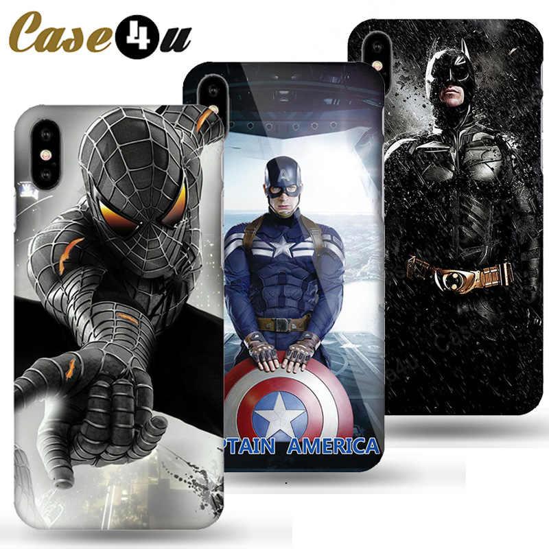 Marvel Avengers Khiên Captain America Siêu Anh Hùng Dành Cho iPhone XS Max XR X 10 6 6S 7 8 Plus cứng Lưng PC Iron Man Coque