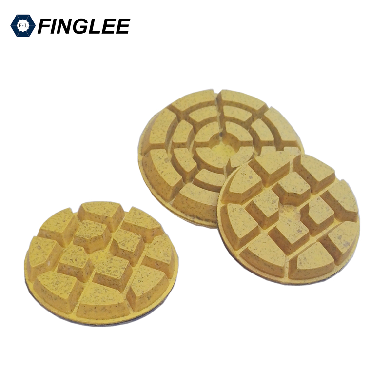 FINGLEE 6 pcs/lot 80mm Cooper Bond Floor Polishing pad Aggressive Grinding For Hard Stone,Granite,Marble,Stone Tools 1pc white or green polishing paste wax polishing compounds for high lustre finishing on steels hard metals durale quality