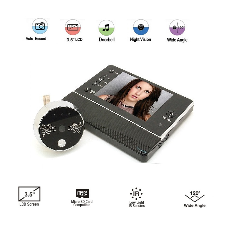 ФОТО Video-Eye New 3.5inch LCD 0.3Megapixels Camera 3X Zoom IR night vision 32 Rings support Video+Photos Multi-language video-eye