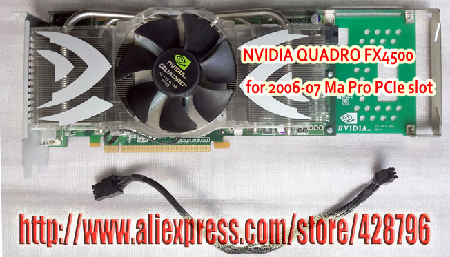 CAD/3D Nvidia Quadro FX 4500 PCIe 512MB Graphics Video Card ,for A1117 Power G5(ddr 533)630-7219,Power cable included