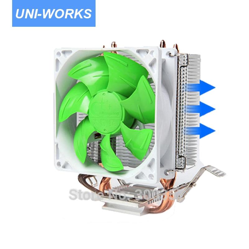 4 Broches Ordinateur De Bureau PC 2 heatpipe Universel CPU Cooler ordinateur ventilateur CPU lga775/LGA1150 1155 1156/AM2/AM3