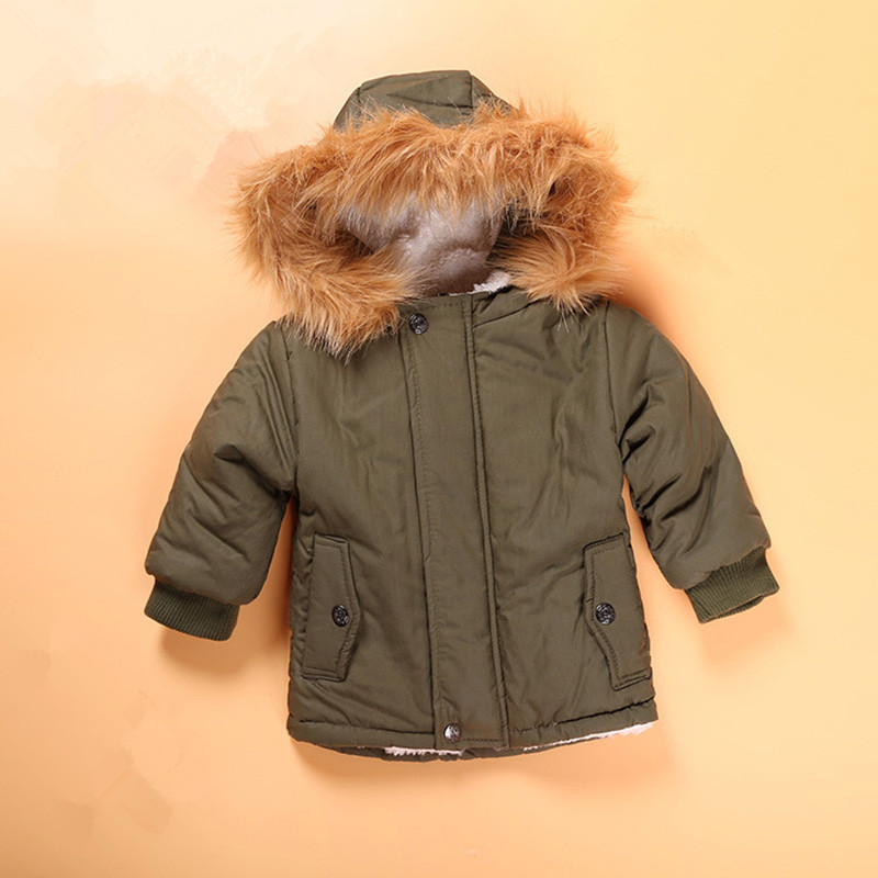 75ef3900f55b9 Children s Hooded Coats Child Winter European Style Thick Jacket Newborn  Baby Boys Cotton Solid Clothing Kids Warm Outerwear-in Jackets   Coats from  Mother ...