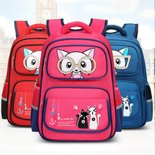 QIXINGHU Brand School Bag Stereoscopic Cartoon Anime Boy Girl Bookbag Primary Backpack Grades 3-6 Kid Backbag Student Schoolbag