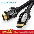 Vention HDMI Cable 1m/2m/5m/8m/10m HDMI Ethernet HDMI to HDMI Connector Adapter Cable 1.4V 2.0V 1080p 3D for PC HDTV Projector
