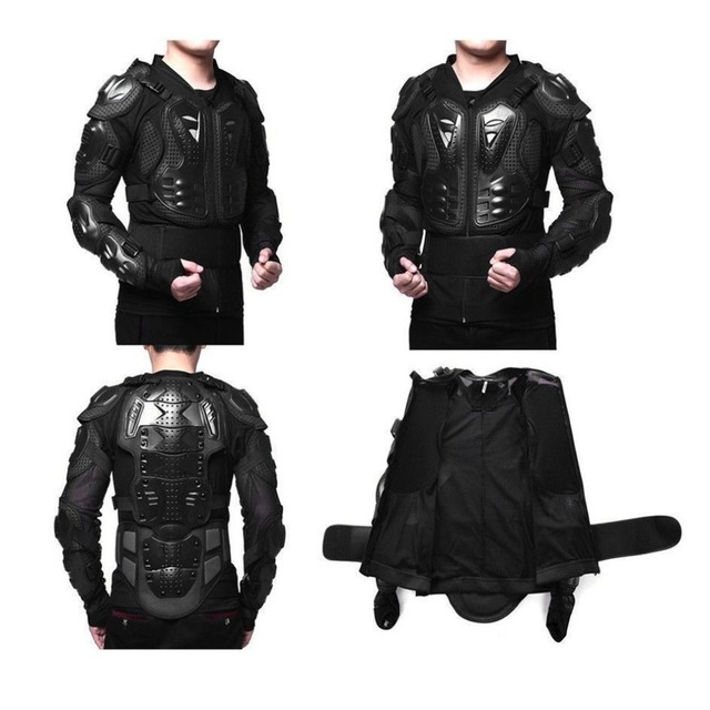 US $16 85 18% OFF|Motocross Dirt Bike Full Body Armour Jacket Chest  Shoulder Elbow Plastic Coverage Quad Motorcycle Protect Suit  S/M/L/XL/XXL/XXXL-in