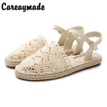 Hot selling,new 2015 pure handmade weave shoes, women leather the retro art mori girl shoes,summer Flats shoes,,Beige