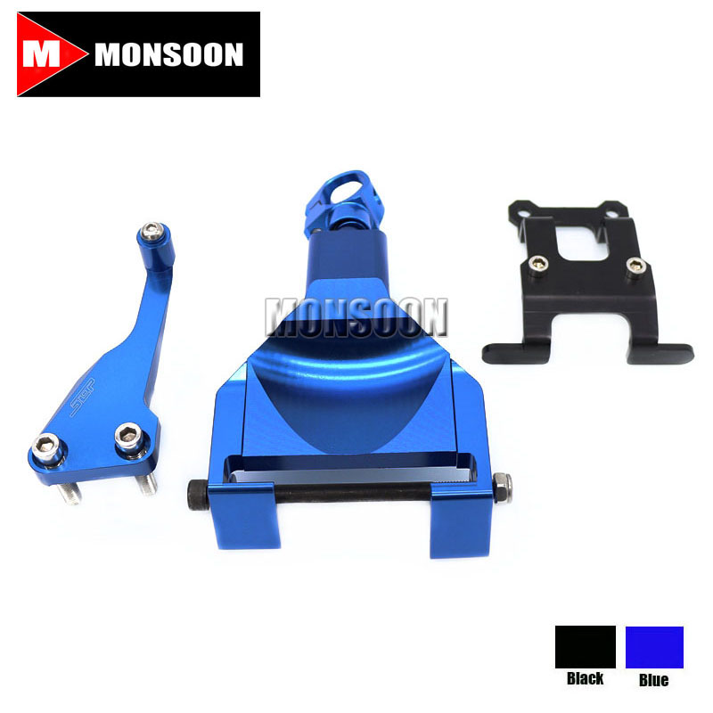 Для YAMAHA МТ-07 ФЗ-07 MT07 FZ07 2014-2016 рулевой демпфер Стабилизатор Кронштейн синий