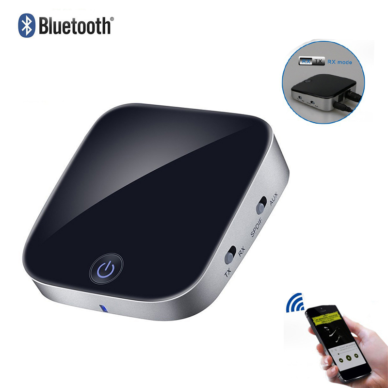New Bluetooth Transmitter Receiver Wireless Audio Adapter with Optical Toslink/SPDIF and 3.5mm Stereo Output Support APT-X aptx audio double decoding transmitter bluetooth 4 0 adapter bluetooth transmitter wireless wireless audio transmitter for tv pc aptx