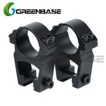 Greenbase see-through high profile 1 polegada/30mm escopo anéis de montagem para 11mm trilho de cauda de acoplamento