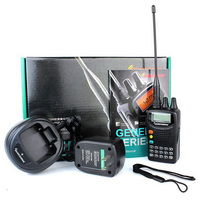 New Radio FM Cavo Clone VOX Walkie Talkie Quansheng tg-5a plus 200CH 5 W UHF 400-470 MHz Due Way Radio Nero