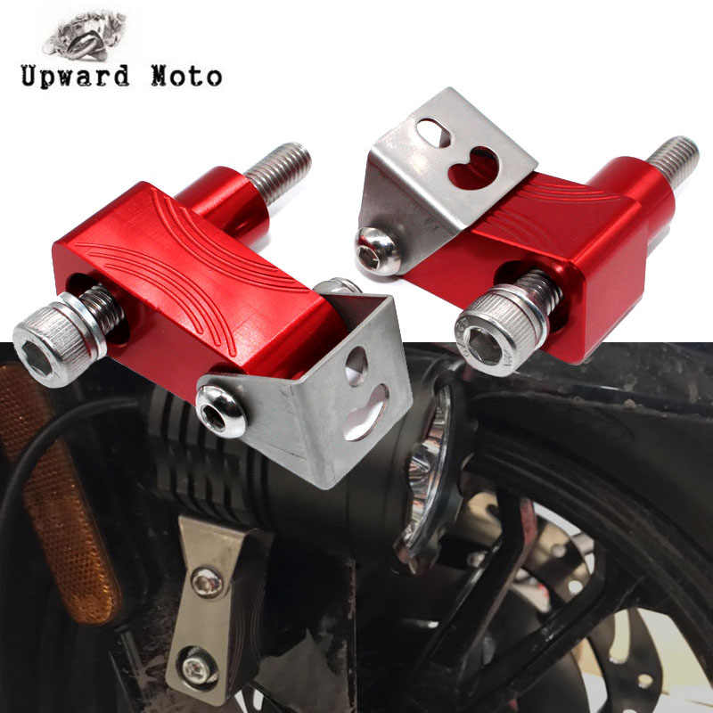 For KYMCO Xciting 250 300 400 AK550 AK 550 DownTown 350 300i Motorcycle Lower Fork Spotlight Holder Lights lamp Mounting bracket
