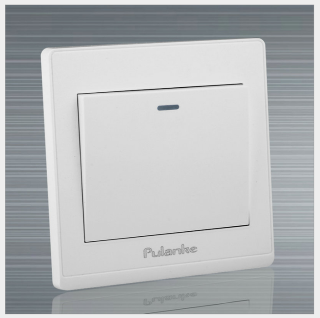 NEW White Wall Switch / 86 Plane Household Hotel Public Lamp Switch ...