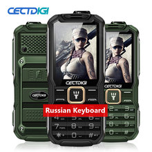 Russian keyboard phone Cectdigi T9900 Dual Sim Unlocked Cell Phone 15800mAh Double Flashlight Power Bank Rugged Phone shockproof(China)