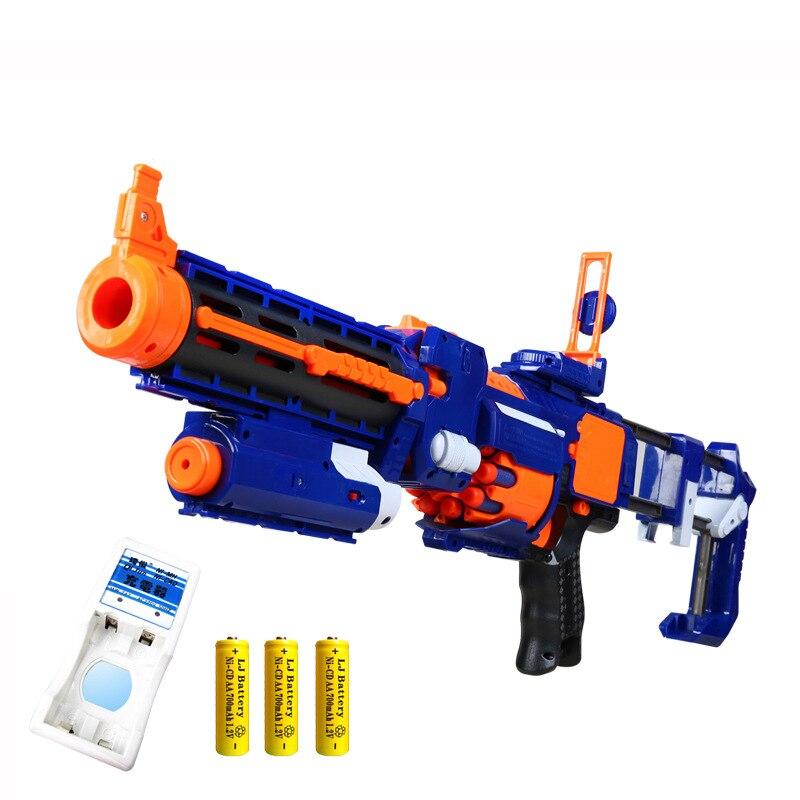 Crianças de plástico arma explosão elétrica macio bala arma terno para nerf balas dart blaster brinquedo rifle melhor presente aniversário das crianças brinquedo