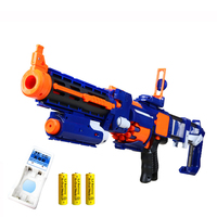 Plastic Kids Gun Electric Burst Soft Bullet Gun Suit for Nerf bullets Dart Blaster Toy Rifle Children's Best Birthday Gift Toy