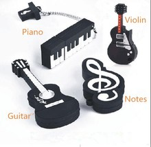 Notes usb flash drive 64g piano 32g lettering 16g violin logo 8g cartoon U disk free shipping