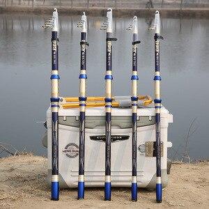 Image 3 - คาร์บอนไฟเบอร์ telescopic spinning fishing rod 2.1 3.6 M hard สั้น travel sea rod ปลาคาร์พเบส stick H power เสา