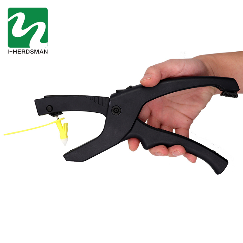 1 Pcs Single Integrated Ear Tag Pliers Alloy Steel Hydraulic Pliers Cow Sheep Identification Tool Livestock Animal Application