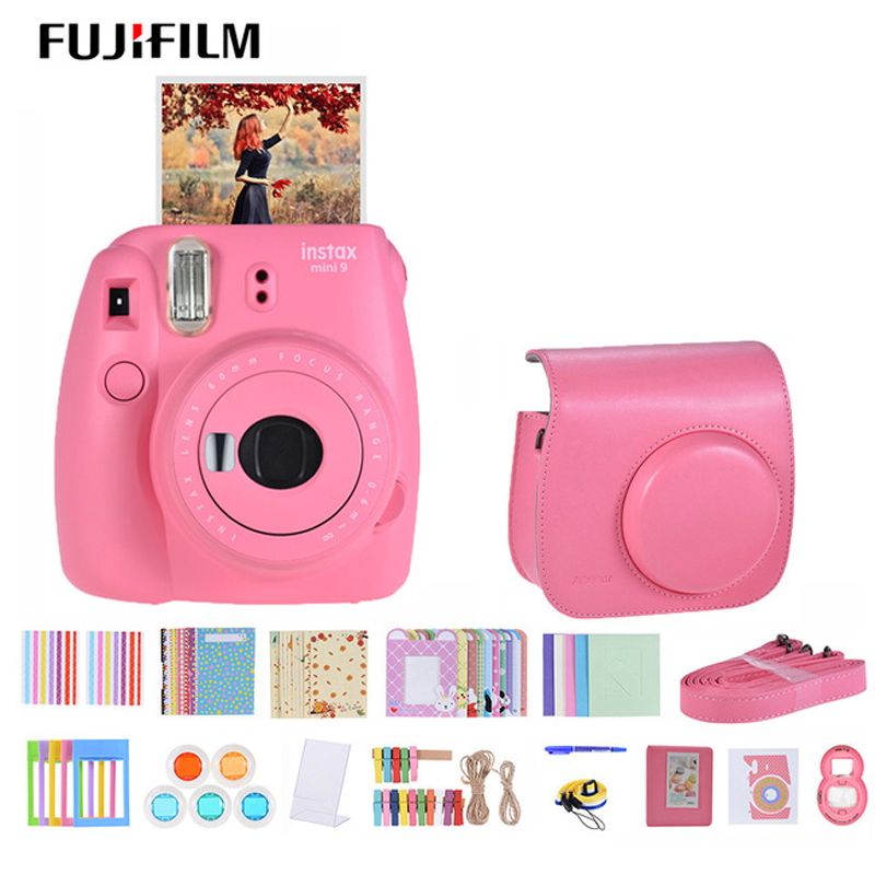 Fujifilm Instax Mini 9 Instant Camera for polaroid for Film Cam with Selfie Mirror Andoer Instant