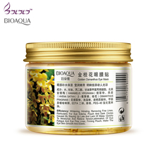80 pcs/ bottle BIOAQUA Gold Osmanthus eye mask women Collagen gel whey protein face care sleep patches health mascaras de dormir