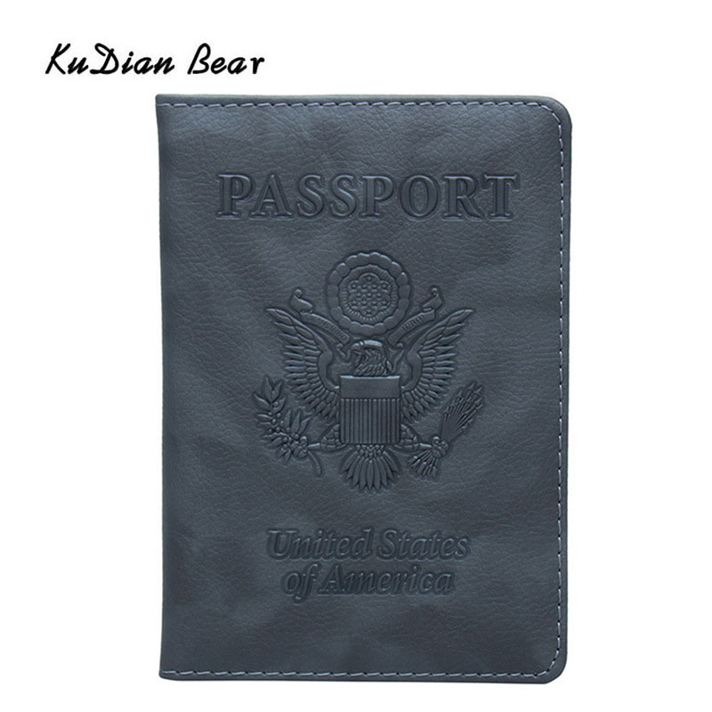 RFID Blocking Genuine Leather Passport Case Cover Holder Travel Wallet Pattern Background With Abstract Bone