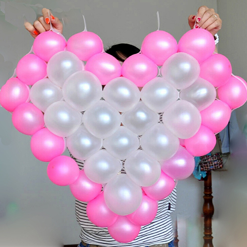 heart shape mesh model 38 grids net frame balloon holder wedding car decorchina