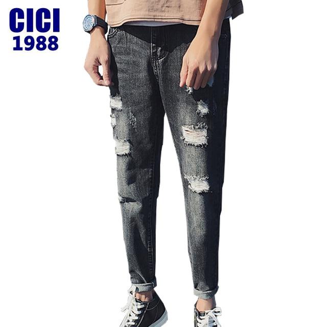 Hommes Version Année D'été Coréenne 2017 Trou Jeans tendance de Du w7RAqxCx