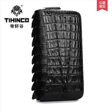 TIHINCO Crocodile leather hand bag leather men's bags business high-end luxury handbags men hand caught long zip purse