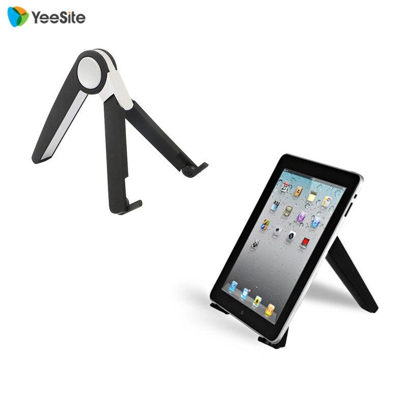 imágenes para De alta calidad de aluminio plegable portátil soporte del sostenedor del soporte portátil para el ipad macbook, blanco Negro