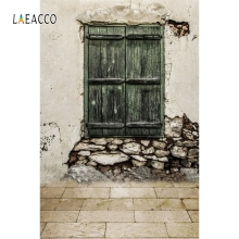 Laeacco Old Brick Wall Window Backdrop Retro Portrait Photography Background Customized Photographic Backdrops For Photo Studio