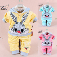 Newborn Baby Boys Clothes 2019 Autumn Spring Baby Girls Clothes Cartoon Hooded Top+Pants 2PCS Outfits Bebe Suit kids Clothes Set