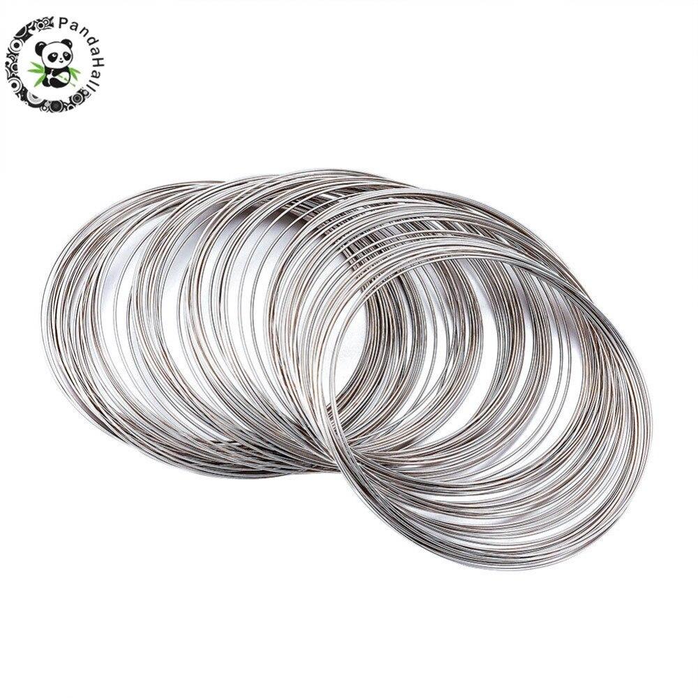 884b55279137 Pandahall 65mm de acero de diámetro memoria Alambre de abalorios de ...