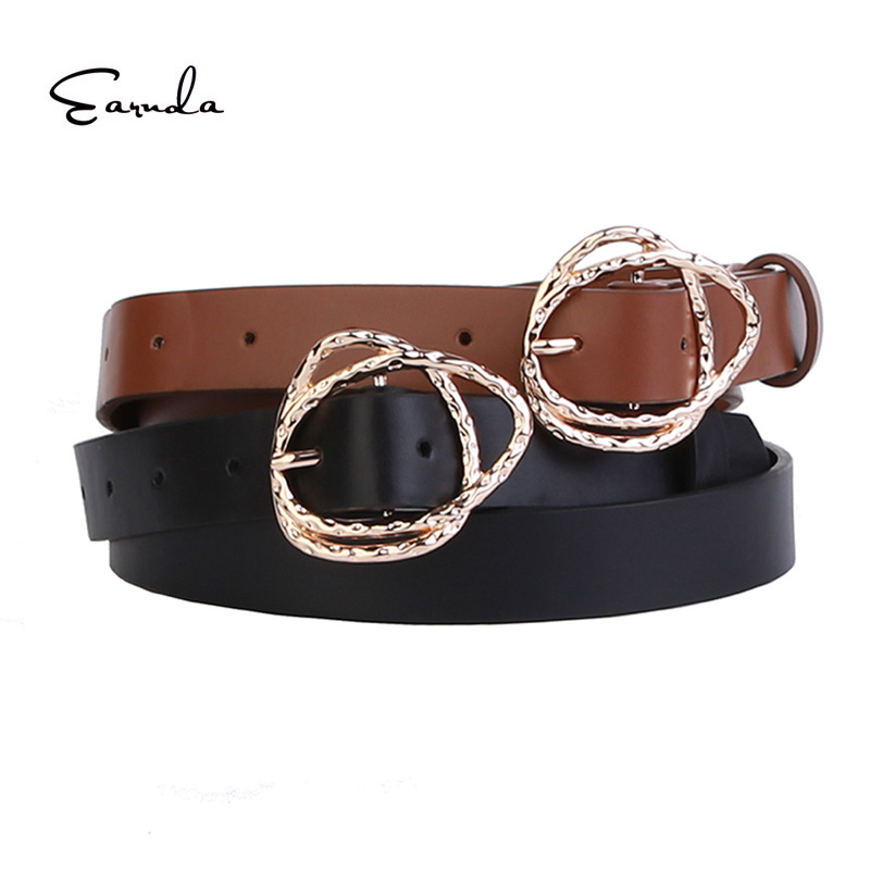 New Designer Women 39 s Belts Luxury Fashion Belt for Women High Quality PU Leather Waist Strap in Women 39 s Belts from Apparel Accessories
