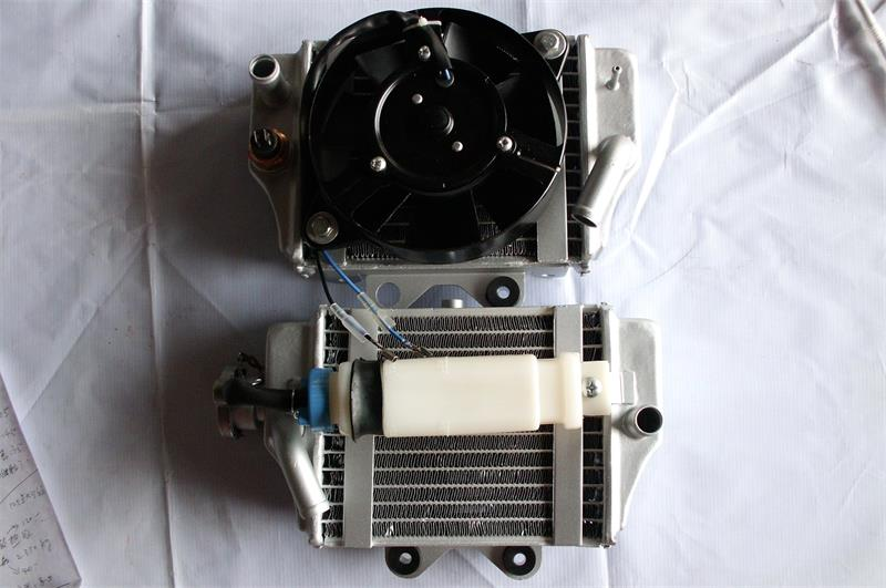motocross accessories Water cooling engine cooling Radiator cooler & 12v fan for motorcycle moto dirt pit atv 4x4 bike parts motorbike crankshaft for xinyuan xy 150cc engine atv dirt bike motorcycle qz 118