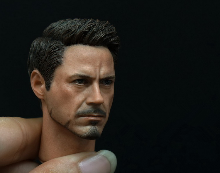 1/6 figure accesories Robert Downey Jr. Iron Man Tony Stark head sculpt carved 12 Action figure doll.not include body;clothes