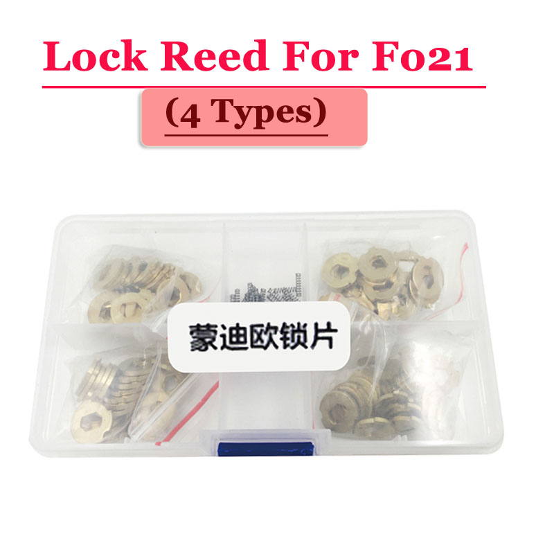 Free shipping (100pcs/box )FO21 car lock reed locking plate for ford lock (each type 25pcs) Repair Kits 200pcs lot hu92 car lock reed locking plate hu92 car locks tablets lock spring car locksmith tools